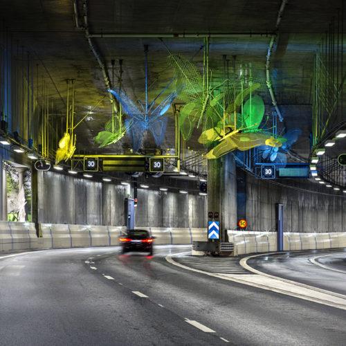 Norra Länken Trafikplats Ängen. Foto Mikael Ullén
